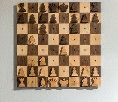 wall hanging chess set