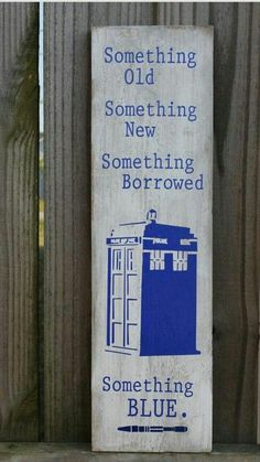 doctor who wedding sign decor