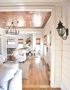 Awesome Rustic Farmhouse Style Living Room Design Ideas 19 - Rustic Farm Home Living Room Designs, Living Spaces, Home Interior, Interior Design, Interior Ideas, Wood Interior Walls, Interior Architecture, Ship Lap Walls, My New Room