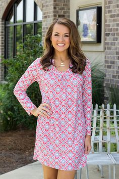 Hold Me Close Dress - Grey/Coral This dress is a fabulous brand - Aryeh. Looks and feels like MUCH more expensive brands! Beautiful prints!