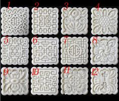 moon cake mold 75g square set with 1 stamps more por mooncakeshop