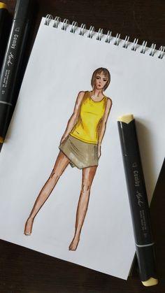 иллюстрация, illustration fashion