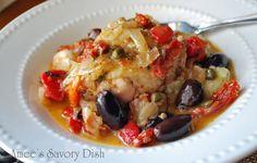 Greek Chicken Stew with Cauliflower Rice is so tender and tasty!! Yum Yum! #skinnyms, #chicken