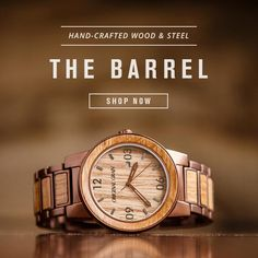 dial the watch whiskey watches solid steel products reserve from espresso original wood barrel wrist collection grain