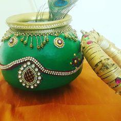 Diwali Decorations, Indian Wedding Decorations, Pottery Painting, Dot Painting, Kalash Decoration, Trousseau Packing, Rakhi Design, Painted Flower Pots, Wedding Plates
