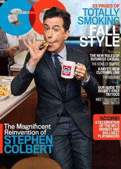 For GQ's September cover, Stephen Colbert gives a sneak peek of his new show, and reveals his truest self. (Boy, does he go deep)