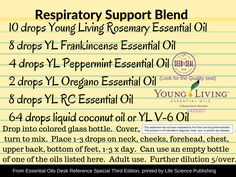 *If you pinned this, please delete and repin.  Typo in drops of oil in previous post.  Not that it would matter but to be accurate.  Respiratory Support Blend DIY Recipe for adults.  Further dilution with carrier oil needed for children.  Not intended for under 5.  Order Young Living Essential Oils, natural supplements and cleaning products, skin care you can trust…