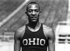 "From Wikipedia James Cleveland ""Jesse"" Owens (September 1913 – March was an American track and field athlete who specialized in the sprints and the long jump. He participated in the 1936 Summer Olympics in Berlin, Jesse Owens, Running Man, Nike Outfits, Berlin Olympics, 1936 Olympics, James Cleveland, American Athletes, Long Jump, Sport Icon"