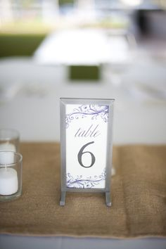 Cute little table number stand :) Photography by justinmarantz.com