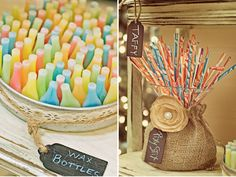 cute way to dress up a typical flower vase (that I already have multiples of!)