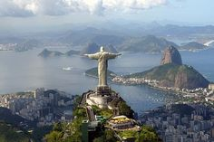 Christ the Redeemer (Cristo Redentor): Corcovado in Rio de Janeiro Places Around The World, Oh The Places You'll Go, Places To Travel, Places To Visit, Around The Worlds, Vacation Destinations, Dream Vacations, Vacation Spots, Magic Places