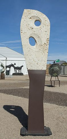 """""""Evolution No. Texas Shell Stone, Powder Coated Steel, For… Outdoor Sculpture, Stone Sculpture, Garden Sculpture, Abstract Sculpture, Sea Shells, Evolution, Sculpting, Powder, Texas"""
