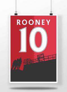 Wayne Rooney A3 Poster, Manchester United Illustrated Print | Football, Sport, Wall Art, Mancave, Gifts, Home Decor (8x10,A4 & A3) by carlhughesdesign on Etsy https://www.etsy.com/uk/listing/527953997/wayne-rooney-a3-poster-manchester-united