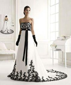 Vestidos de boda blanco con negro