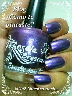 Colección Otoño-Invierno Angela Bresciano #swatches #nails #uñas #comotepintaste #esmaltes #polish #purple #violeta #angelabresciano