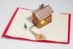 tutorial will guide you through how to create simple paper circuitry using only copper tape, a coin cell battery, a LilyPad Button Board, and an LED, and it will leave you with a basic understanding of how circuits work. Pop Up Christmas Cards, Christmas Pops, Pop Up Cards, Holiday Cards, Christmas Crafts, Paper Pop, Up Book, Maker, Popup