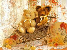 Картинки мишки тедди осень