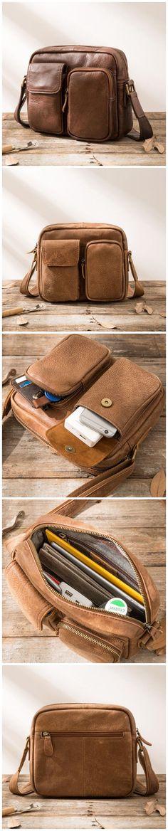 Full Grain Leather Messenger Bag Vintage Men Shoulder Bag Satchel Bag HB64B97 Canvas Leather, Leather Bags, Mini Umbrella, Photography Bags, Leather Briefcase, Satchel Bag, Messenger Bags, Laptop Bag, Fashion Men