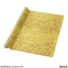 Gold Foil Wrapping Paper @zazzle #junkydotcom Aug 11 2016