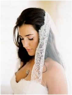 Mantilla Lace Wedding Veil mantilla lace wedding veil Photo by Jose Villa country