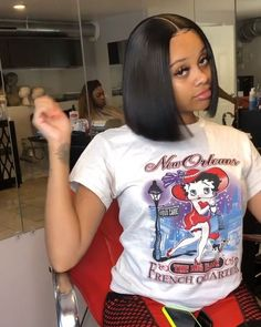 Short Lace Front Human Hair Bob Wig For Black Women,Brazilian Straight Remy Lace Wig. Baddie Hairstyles, Black Girls Hairstyles, Weave Hairstyles, Simple Hairstyles, Medium Hairstyles, Prom Hairstyles, Braids For Black Hair, Black Curly Hair, Sew In Wig