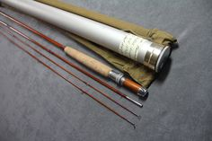 "GENE EDWARDS - MAKER, CT MODEL ""SKILTON SURPREME"" 8 1/2' 3PC 2 TIP 5/6 WT, All sections are full length and straight. One tip at top has 2"" repair wrap but works fine. Bright nickel silver ferrules."