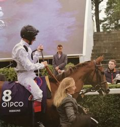 Ribbons and Frankie Dettori on Champions Day at Ascot, 17 October 2015.