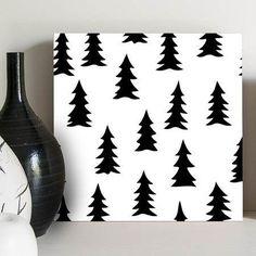 quadro decorativo pine trees