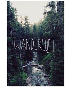 """'Wanderlust Rainier Creek' Canvas Art by Leah Flores, 22"""" x 32"""""""