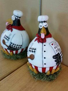 My new kitchen chicken gourd!