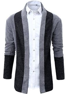 934c541d40d6c Lende Fashion Men leisure Joining together long sweater cardigan