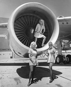 Vintage Photos of Pacific South West Airlines Flight Attendants ~ Cabin Crew Photos www.FlightAttendantSource.com