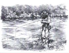 Fly Fishing Art Work Change Up by MikeWorthenFineArt on Etsy, $10.00