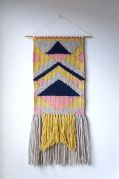 Woven wall hanging / tapestry / unique weaving /