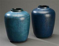 Vare: 3044726Gunnar Nylund for Nymølle. Et par vaser af stentøj (2)