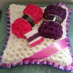 Bespoke Knitting Tribute by Shellbelles Florist of Caddington