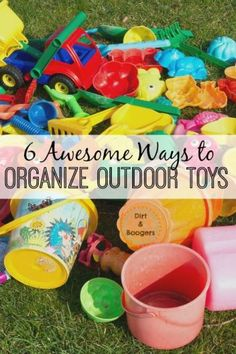 I love these great tips for organizing outdoor toys. Especially idea number 3! Easy DIY tips to organize the outdoor space at your home.