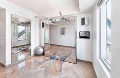 Modern Home Gym Design featuring Technogym