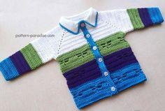 Free Crochet Pattern: Dragonfly Jacket by pattern-paradise.com