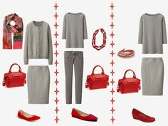 Love this grey and red. LmC