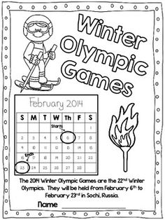 Flying into First Grade: Giveaway Winners and Winter Olympics Unit and Freebies Kids Olympics, 2018 Winter Olympics, Winter Olympic Games, Winter Games, Winter Activities, Sport Winter, Winter Fun, Winter Theme, Winter Ideas