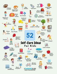 Help your kids bust stress, boost their moos, and press forward toward their goals! The Ultimate Guide to Self-Care for Kids will guide you on the journey! Which self-care ideas will your kids use first? Get your free 52 self-care for kids printable inside! Plus other fun parenting freebies including: - A self-care roadmap for families. - Videos to make learning stick. - Self-care posters, printable, and a coloring sheet. #positiveparenting #selfcare #family