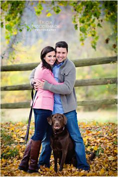 Katie and Mike Engagement Session at Tanglewood with Dog - Lenox MA - Tricia McCormack Photography
