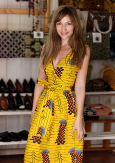 bold african printed dress