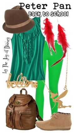 Back to School Casual outfit inspired by Peter Pan!