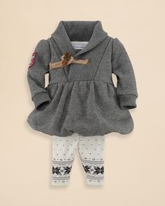 Christmas 2014   Ralph Lauren Childrenswear Infant Girls' Salt & Pepper Fleece Dress & Leggings - Sizes 3-9 Months | Bloomingdale's