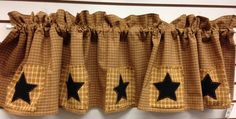PRIMITIVE/COUNTRY VALANCE STAR PATCH DESIGN BY KP COUNTRY DESIGNS #KPCOUNTRYDESIGNS #PRIMITIVECOUNTRY