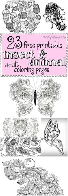 I love these awesome animal and insect adult coloring pages! Especially all the…