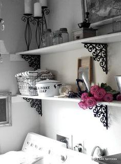 Laundry Room shelves - Let's Add Sprinkles