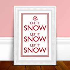 Let It Snow Print - christmas home accessories